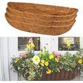 """Coconut Fiber Planter, Planter Basket with Coco Coir Liner, Coconut Coir Planter, Coco Liners for Hanging Basket Window Boxes, Garden Flower Vegetables Pot, Wall Trough Planter (36"""", 1PC)"""