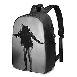 Tina Turner Laptop Backpack with USB Charging Port, Travel Backpack, Casual Backpack, Suitable for School/Men/Women/Business Backpacks