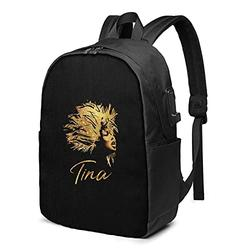 Ti-na Tu-rner Laptop Backpack with USB Charging Port, Travel Backpack, Casual Backpack, Suitable for School/Men/Women/Business Backpacks