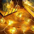 20 LED Eid Mubarak String Lights Ramadan LED Lights Battery Powered Mubarak Moon Lantern Lights Decoration Mubarak Home Lamp Decorations (Moon, Castle, Lantern)