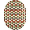 Tree Area Rugs Carpets,Abstract Spruces Fir Pine Trees on Pastel Color Spots Christmas Theme Cartoon Forest Home Collection Modern Area Rug,5'x 8'Oval,for Kids and Children Bedrooms and Playroom
