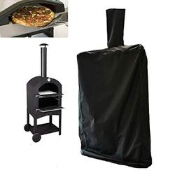 J&C Outdoor Pizza Oven Cover Outdoor Black Pizza Oven Protection Weather Resistant Dustproof Pizza Oven BBQ Rain Cover for Wood-Fired Cha rcoal Fired Pizza Oven Bread (62.4x19.5x14.4inch)