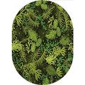Sage Oval Area Rug Carpet,Evergreen Christmas Tree Coniferous Fir Pine Leaves Retro Seasonal Forest Home Collection Modern Area Rug,4'x 6'Oval,for Children Bedroom Home Decor Nursery Rug