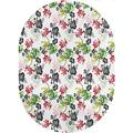 Garden Art Area Rugs Carpets,Watercolor Painting Style Botanical Composition Flourishing Spring Garden Theme Area Rugs Carpets,6'x 9'Oval,for Accent Rugs Home Bedrooms Floor Decorative