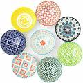 Set of 8 Porcelain Bowls/Vibrant Colors Soup Bowls, 10 Oz, Outstanding Quality Mixing bowls Plates and bowls sets Salad bowl Dog bowl Soup bowls Pasta bowls Serving bowls Paper bowls