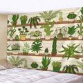 Tapisserie de Cactus, Art nordique esthétique, fleur, décor de salon, chambre à coucher, plante