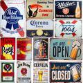 Signe métallique rétro Shabby Chic, signes en étain, Whisky bière, Vintage, Bar, Pub, cuisine,