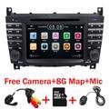 Autoradio 7 pouces, avec lecteur DVD, 2 DIN, GPS, BT, pour Mercedes Benz, W203, W209, W169, W219,