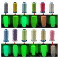 Fil phosphorescent 12 couleurs, énorme bobine 150D, 3000 Yards, pour la couture de broderie à la