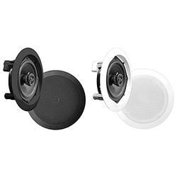 """Pyle Ceiling Wall Mount Speakers - 5.25"""" Pair of 2-Way Midbass Woofer Speaker & Ceiling Wall Mount Speakers - Pair of 2-Way Midbass Woofer Speaker 1'' Polymer Dome Tweeter Flush Design"""