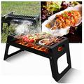 AIYIFU Barbecue Grill Charcoal Barbecue Desk Tabletop Outdoor Stainless Steel Smoker BBQ for Picnic Garden Terrace Camping Travel 38.52927.5CM,