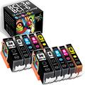 ColorPrint Compatible BCI3e BCI6 Ink Cartridge Replacement for Canon BCI-3 BCI-3e BCI-6 Work with PIXMA iP3000 iP3300 iP4000 iP5000 iP5200 iP6000D iP8500 MP600 MP780(10-Pack, 2XLBK+2BK+2C+2M+2Y)