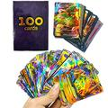 100Pcs/Box pokemon VMAX Cards GX EX Mega Pokemones Game Booster collectibles Card English Trading Collection Card Kids Toys