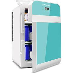 YITAMOTOR Blue Portable Refrigerator 20 Liter Mini Fridge Electric Powered 12V DC and 120V AC for Car, SUV, RV, Home,Outdoor (Car Refrigerator)