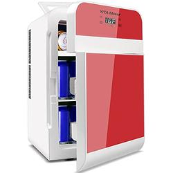 YITAMOTOR Red Portable Refrigerator 20 Liter Mini Fridge Electric Powered 12V DC and 120V AC for Car, SUV, RV, Home,Outdoor (Car Refrigerator)