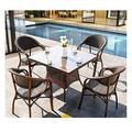 Patio Dining Set Outdoor Dining Furniture Set with Patio Furniture Conservatory Furniture Table Sets Family Lawn Furniture Outdoor (4 Piece Set Table Chair) for Garden Backyard Bistro Furniture Set