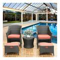 LXYYY Patio Dining Set Outdoor Dining Furniture Set with Rattan Garden Sofa Outdoor Furniture Rattan Garden Furniture Set Patio Conservatory Indoor Outdoor for Garden Backyard Bistro Furniture Set