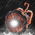 SIZHINAI Portable Camping Fan with LED Lantern, Portable 3 Speed Wind Cooling Fans with Dimmable Light Power Banks USB Rechargeable for Home Floor Outdoor Camping