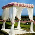 10x10 Wedding Backdrop Stand Kit Shed Frame Kit Expandable Poles and Drape Stand Heavy Duty Outdoor Lawn Garden Wedding Event Canopy Stand Frame for Ceremony Photography Backdrop Prop -Hardware Kit