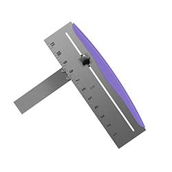 Laelr Cake Scraper, 12 Inch Stainless Steel Cake Smoother, Adjustable Cake Bench Scraper, Cake Icing Frosting Smoother for Baking, Cake Decorating Tools, Purple
