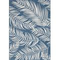 Tapis extérieur polypropylène bleu 120x160