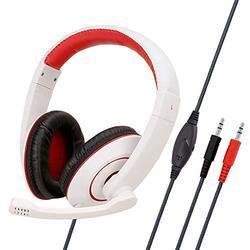 Comfortable Soft Cloth Earmuffs and Adjustable Gaming Headset, Office Gaming Headset with Microphone, Surround Sound High-Fidelity Stereo Gaming Headset, Compatible Gaming Headset Yangmani