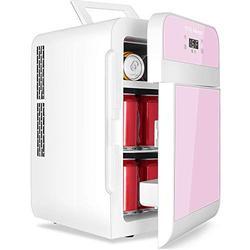 YITAMOTOR Pink Portable Refrigerator 20 Liter Mini Fridge Electric Powered 12V DC and 120V AC for Car, SUV, RV, Home,Outdoor (Car Refrigerator)
