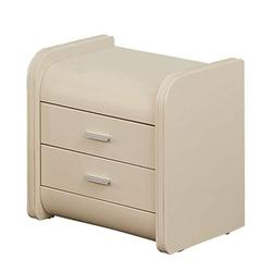 Bedside Table Nightstand Leather Bedside Table with Drawer Nordic Environmental Protection Locker Modern Minimalist Bedroom Bedside Cabinet Nightstand (Color : Beige)
