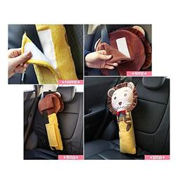 helegeSONG Car Seat Strap Covers for Kids, Seat Pets Stuffed Animal Seat Belt Car Seat Strap Belt Cushion Cover for Kids, Adjustable Pillow Car Protect Kids Shoulder Chest Lion