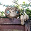 """Garden E.T Face Tree Decoration,Easter E.T Tree Hugger,Garden Peeker,Tree Decoration E.T Face Tree Faces Decor Outdoor,Whimsical Sculpture Outdoor,Funny Spring Decorations for Home ,Standard size = 4"""""""