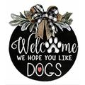 Indepence Day Door Sign,Welcome Sign Front Door Hanger, Hanging Vertical Sign, Welcome Sign Front Door Hanger for Farmhouse,Porch, Hanging Vertical Sign,Spring Decoration Gift (Type G)