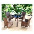 Patio Dining Set Outdoor Dining Furniture Set with Rattan Garden Furniture Patio Outdoor Furniture Rattan Garden Furniture Patio Conservatory Coffee Table Patio for Garden Backyard Bistro Furniture Se