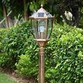Solar D Landscape Street,Light Energy,Vienna Garden,Outdoor Lighting,Outdoor Light,Retro High Po Community Lawn Waterproof Lighting Outdoor Light BJY969 (Color : Brass, Size : 18.52380CM)