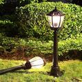 Solar D Landscape Street,Light Energy,Vienna Garden,Outdoor Lighting,Outdoor Light,Retro High Po Community Lawn Waterproof Lighting Outdoor Light BJY969 (Color : Black, Size : 18.52380CM)