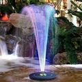Vizor Solar Fountain Pump Solar Bird Bath Fountains Water Fountains Outdoor 2021 Latest Upgrade Solar Bird Bath Fountain Pump, Colorful Led Lights, Solar Bird Bath Fountains for Bird Baths,