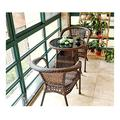 Patio Dining Set Outdoor Dining Furniture Set with Rattan Garden Furniture Set Patio Furniture Conservatory Furniture Table Sets Family Lawn Furniture Outdoor for Garden Backyard Bistro Furniture Set