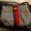 Kate Spade Accessories | Kate Spade Brown Red Spades Diaper Messenger Bag | Color: Brown/Red | Size: 14 X 17 Inches