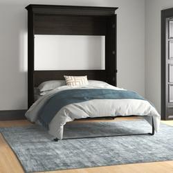 Mercury Row® Harvill Queen Low Profile Murphy Bed Wood in Gray, Size 88.9 H x 22.6 W x 69.4 D in   Wayfair 42184-32