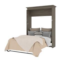 Mercury Row® Harvill Full Low Profile Murphy Bed Wood in Gray, Size 84.9 H x 20.5 W x 84.9 D in | Wayfair 42183-000035