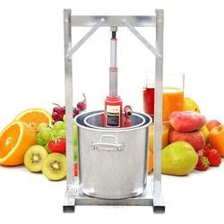 JOYGOGO Juicer Fruit Press Fruit Mill Apple Press Fruit Muser Fruit Shredder Fruit Shredder 12L in Gray/Orange, Size 9.85 H x 8.27 W x 8.27 D in