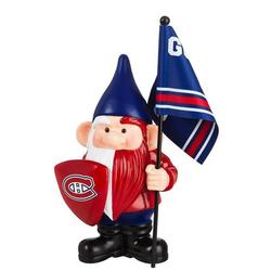Evergreen Enterprises, Inc Montreal Canadiens, Flag Holder Gnome-NHLResin/Plastic in Blue/Red, Size 10.0 H x 4.5 W x 6.1 D in   Wayfair 544364FHG