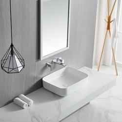 JGZ Ceramic Rectangular Vessel Sink Above CounterBathroom Vanity Sink Bathroom Sink Art Basin in White   Wayfair JG32530