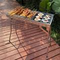 """Bellupai Folding BBQ Camping Grill Large Portable Camping Cooking For Travel Grill Outdoor, Size 28""""H X 28""""W X 13""""D 