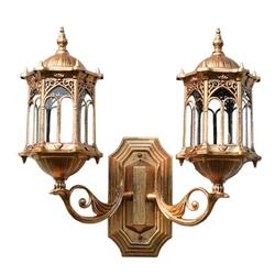 Astoria Grand® Outdoor Exterior Lantern Lamp Wall Lighting Fixture AA9D4850B6B94134B8FA72227AF9F2F0Aluminum/Glass/Metal in Brown/Gray | Wayfair