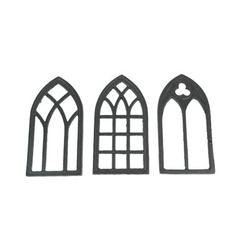 Ophelia & Co. Set Of 3 Black Cast Iron Window Design Kitchen TrivetsMetal in Brown, Size 0.75 H x 8.0 W x 4.25 D in   Wayfair