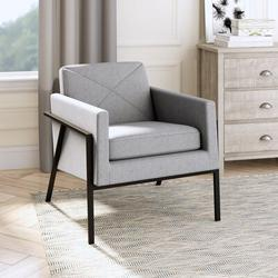 """17 Stories Hajo 30"""" Wide Polyester Armchair Polyester/Polyester blend/Fabric in Black/Brown/Gray, Size 30.25 H x 30.0 W x 30.5 D in 