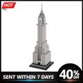 Blocs de construction chrysler, scène de ville, modèle de construction, Street View, constructeur,
