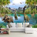 3D Wall Mural Wallpaper Dinosaur Era Large Mural for Kids Living Room Sofa Bedroom Tv Backdrop Wall Mural Wall Paper,430(W)300(H)cm