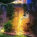 Star Shower Garden Art Light Decoration Watering LED Can Light Waterproof Watering Starry Copper String Lighting Outdoor Garden Decor Solar Light Powered Firefly Moon Plant Tree Vines Decor Lights (C)