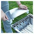 BKYY YYKB Portable Barbecue Grill Portable Stainless Steel Barbecue Grill Folding Grill Household Park Barbecue Accessories BBQ Grill (Color : Type2 Silver)